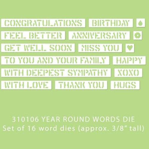 Year Round Words Die Set