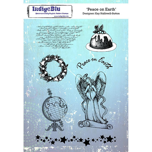 Peace on Earth Cling Rubber Stamp Set