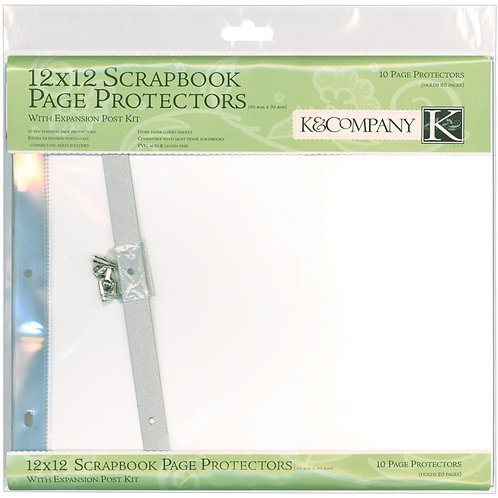 K & Co 12x12 inch Page Protectors