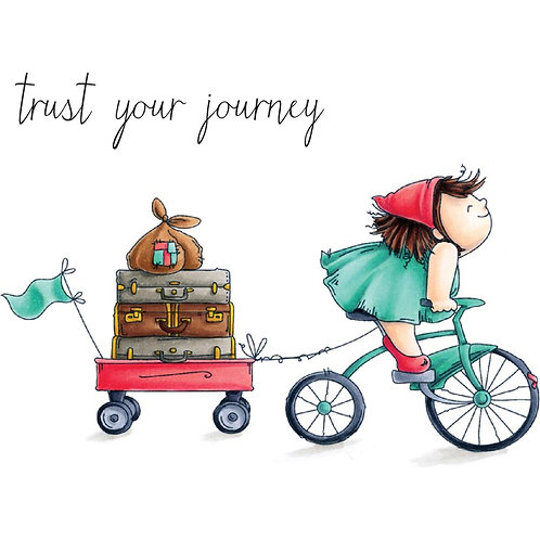 Squidgy on a Journey Rubber Stamp Set