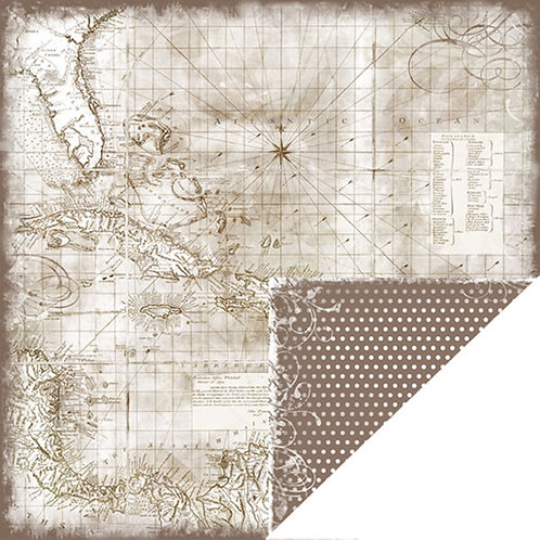 Bon Voyage Caribbean Map Cardstock