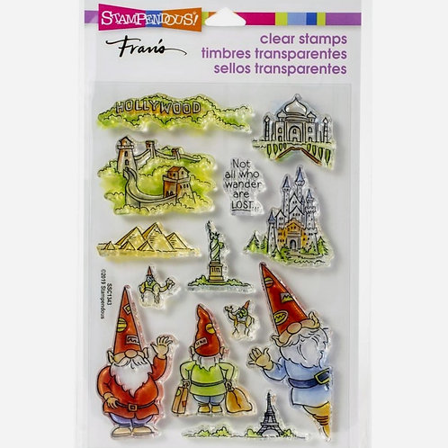 Gnome Travel Clear Stamp Set
