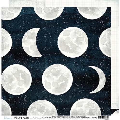 Wolf Pack Over the Moon Cardstock