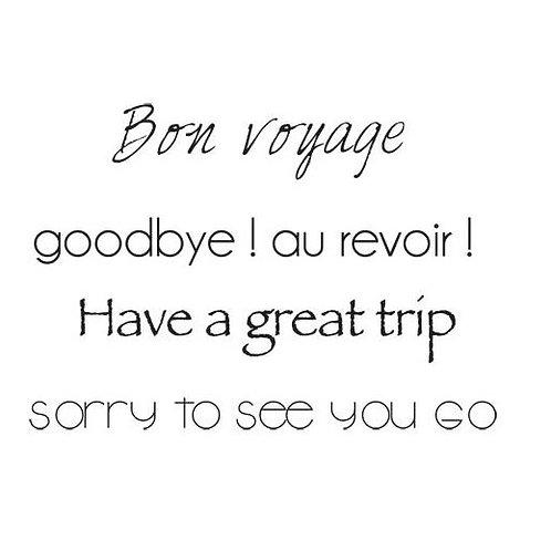 Bon Voyage Sentiment Stamps