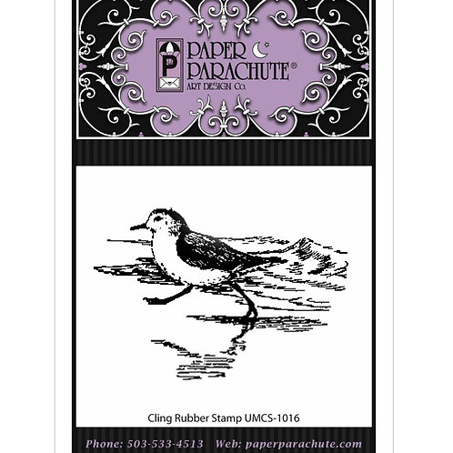 Sandpiper Cling Rubber Stamp
