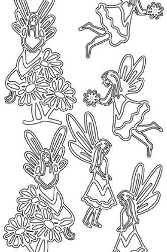 Peel off Garden Fairies, Black