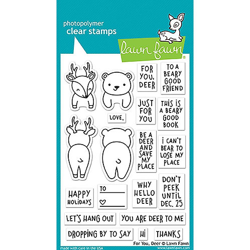 For you Deer Clear Stamp Set