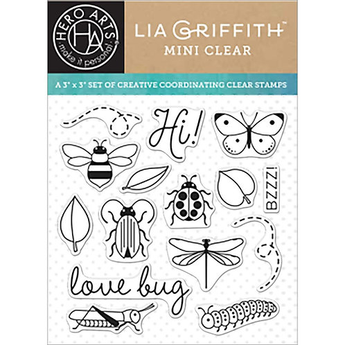 Love Bugs Mini Clear Stamps