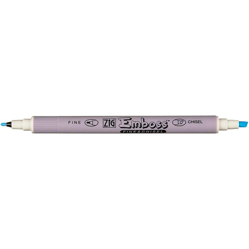 Zig Emboss Fine and Chisel Twin Tip Marker