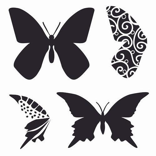 Mini Butterflies 6x6 Template