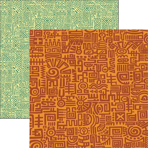 Orange Doodle Cardstock