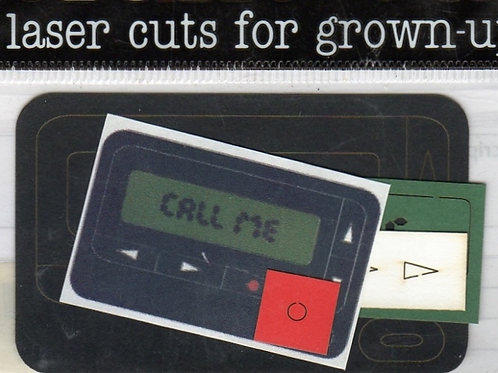 Pager, Laser Cut Shape
