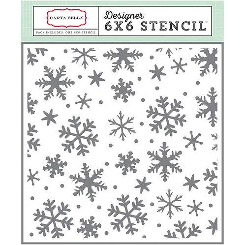 Snowflakes #3,  6x6 Stencil
