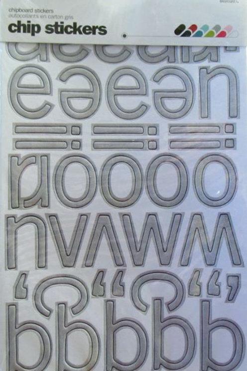 Grey Chipboard Letters