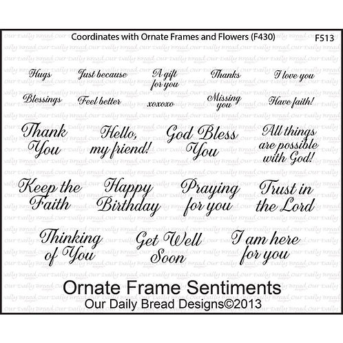 Oranate Border Sentiments Stamp Set