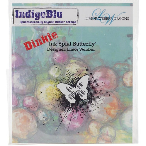 Ink Splat Butterfly Cling Rubber Stamp