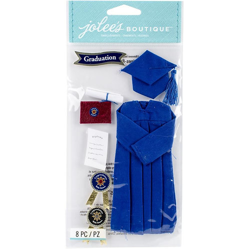 Grad Cap and Gown Dimensional Embellishments