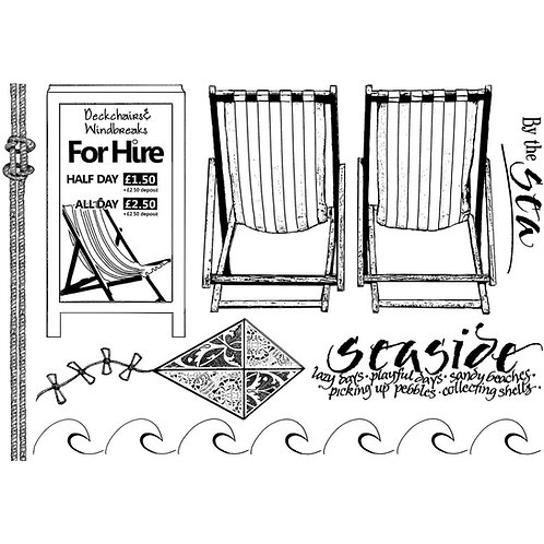 By the Sea Unmounted Rubber Stamp