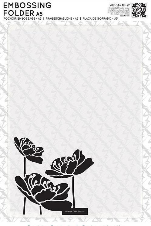 Large Blossom Embossing Folder