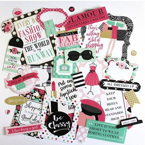 Fashionista Ephemera Die Cut Pieces