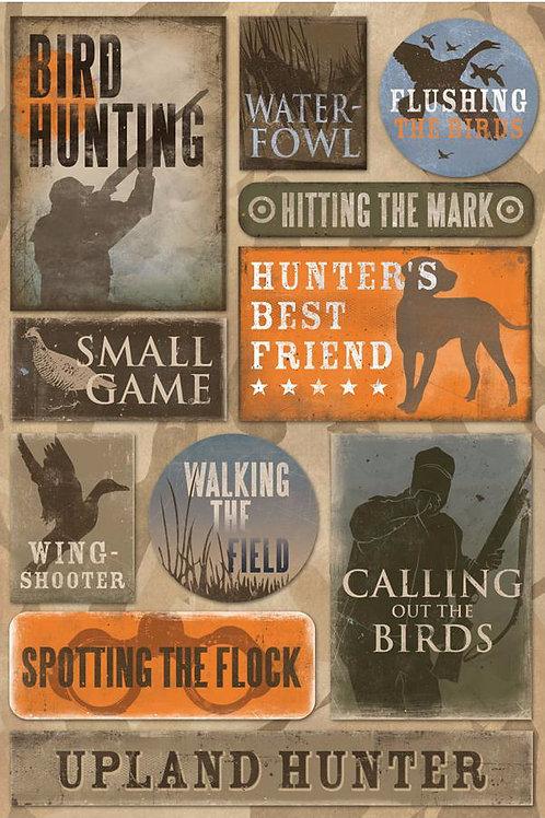 Bird Hunting Sticker Sheet