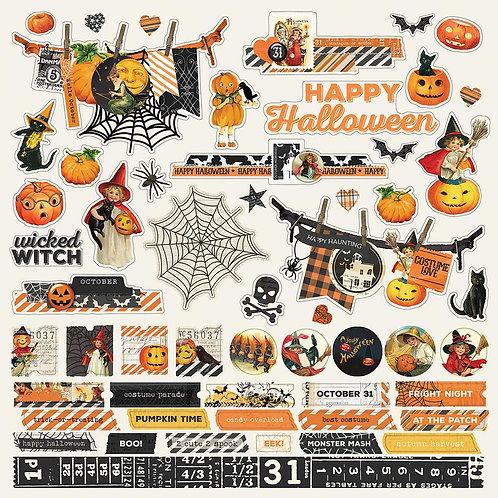 Simple Vintage Halloween 12x12 Combo Sticker Sheet
