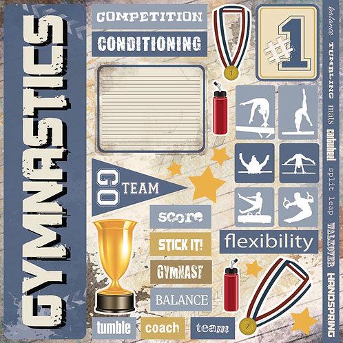 Gymnastic Extreme Sticker Sheet