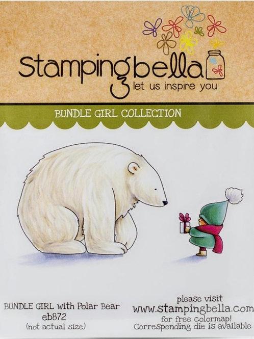 Bundle Girl with Polar Bear Rubber Stamp Set