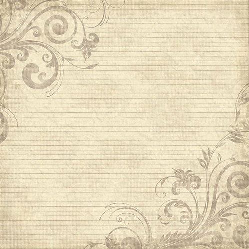 Family History Lines and Swirls Paper