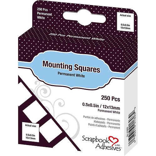Mounting Squares, White Permanent