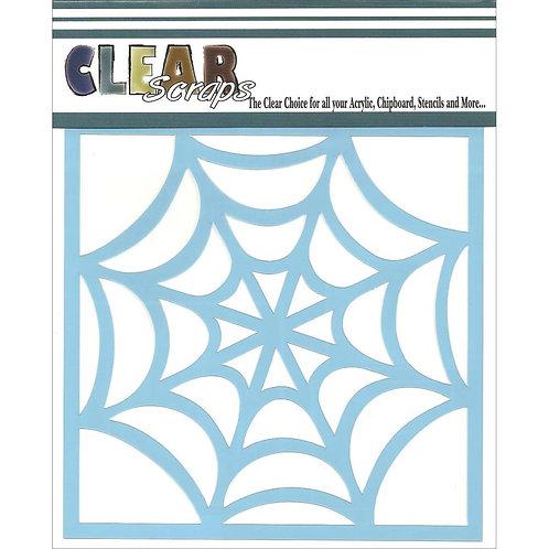 Spider Web 6x6 Stencil