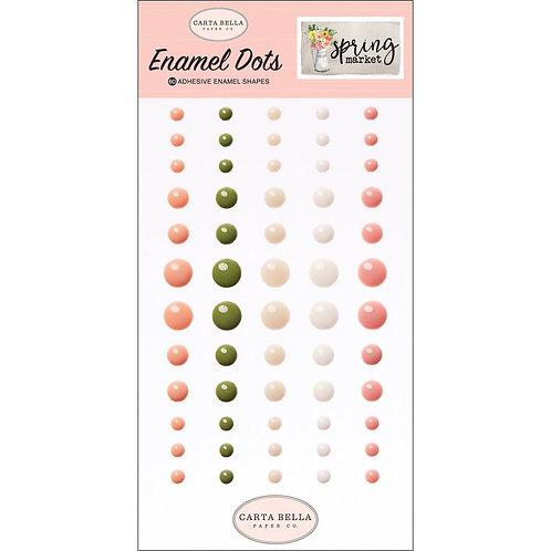 Spring Market Enamel Dots