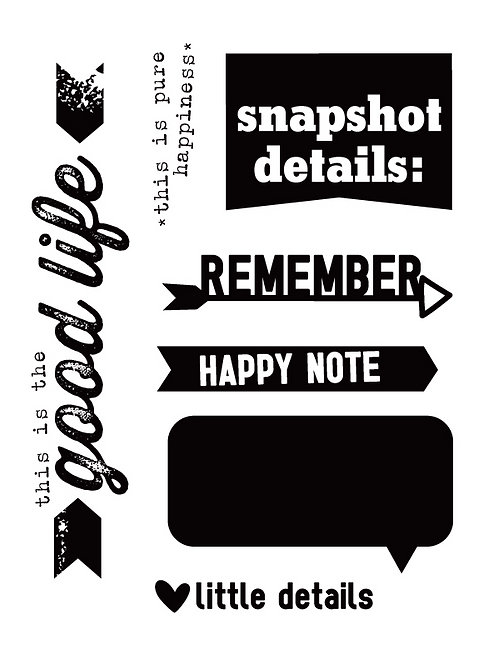 Happy Notes Stamp Set