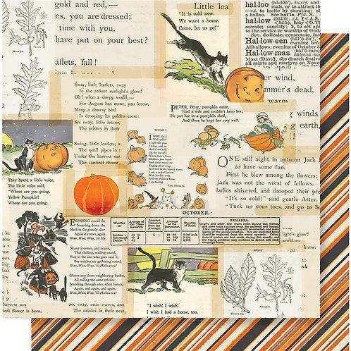 Simple Stories Vintage Halloween Little Monsters Cardstock