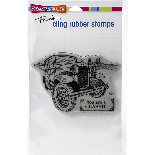 Classic Car Cling Rubber Stamp