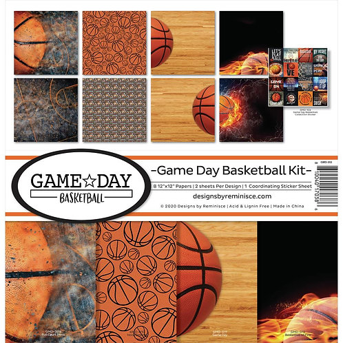 Game Day Basketball 12x12 Kit