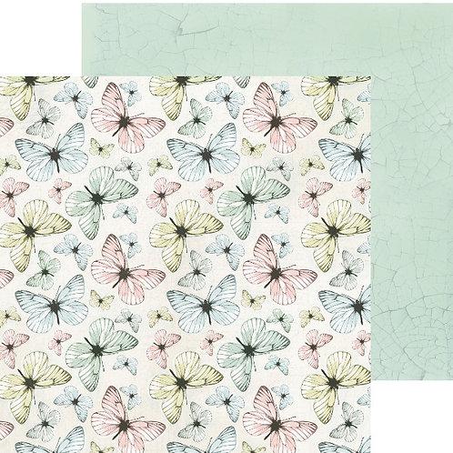 Fairy Garden Fluttering Cardstock
