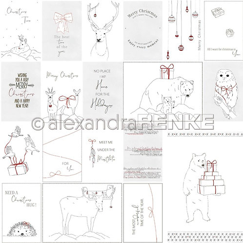Christmas Cardstock Nordic Animals