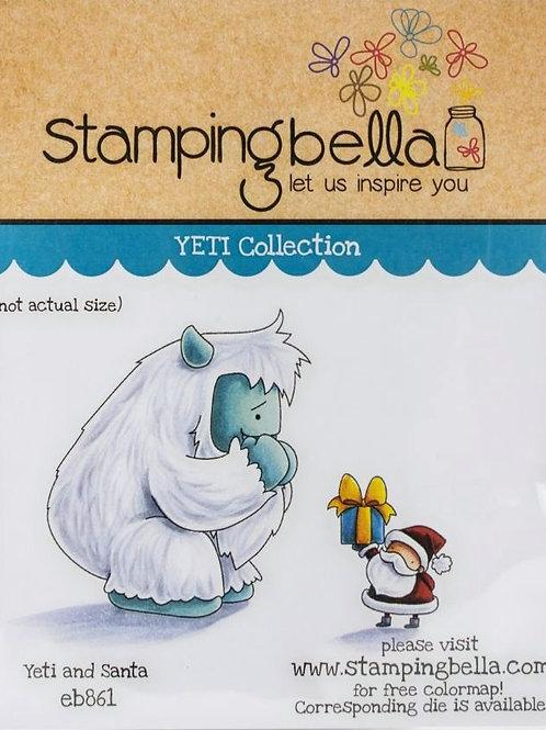 Yeti and Santa Rubber Stamp Set