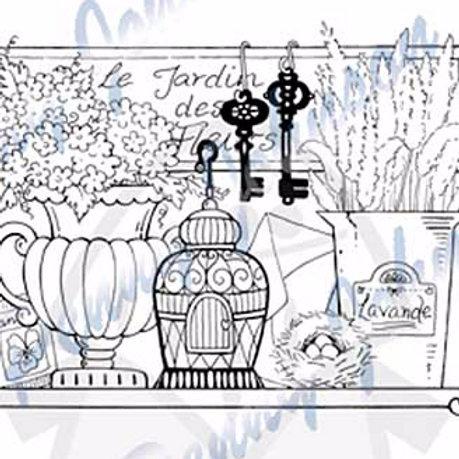 Garden Shelf Clear Stamp