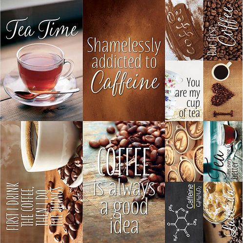 Coffee Tea Poster Stickers