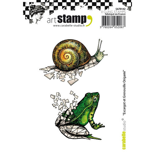 Snail and Frog Origami Stamp Set