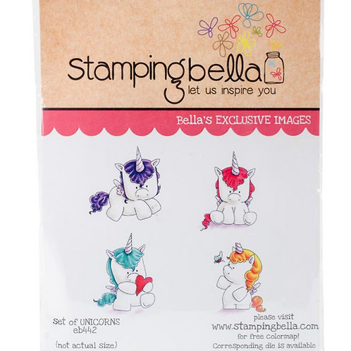 Set of Unicorns Cling Rubber Stamp Set