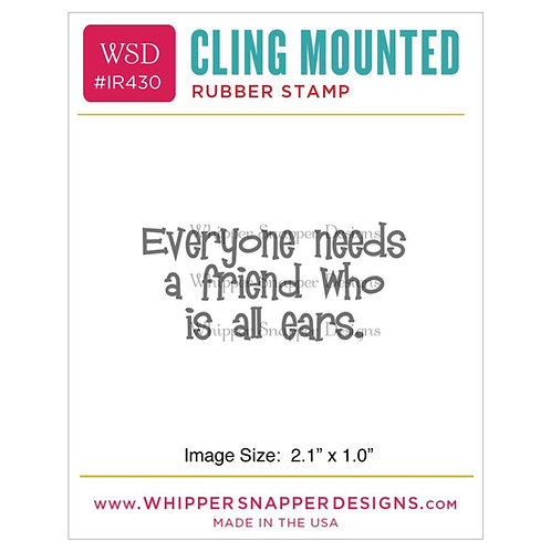 All Ears Cling Rubber Stamp