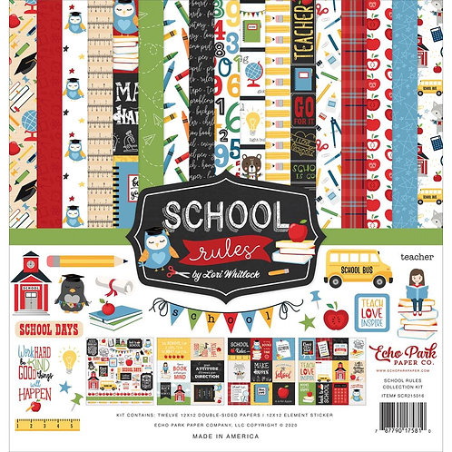 School Rules 12x12 Collection Kit