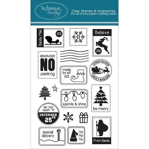 Santa Mail Clear Stamp Set