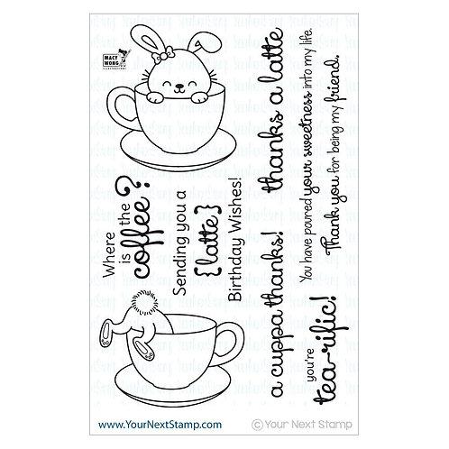 Sprinkles Coffee & Tea Clear Stamp Set