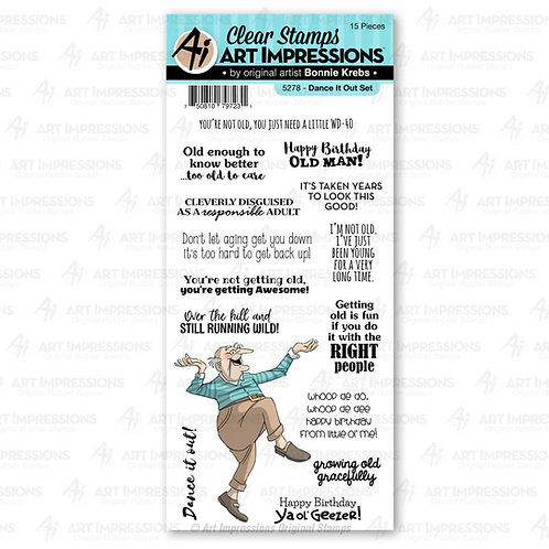 Dance it Out Laugh Lines Clear Stamp Set