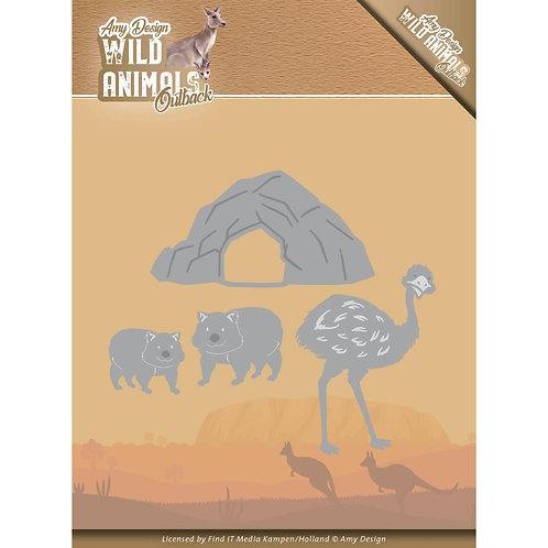 Outback Emu and Wonbat Die Set