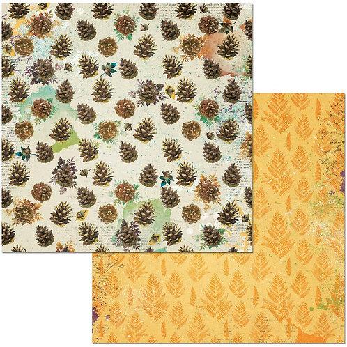 Dreams of Autumn Pinecones Cardstock